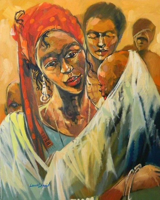 Женщина с ребёнком. Автор: Said Oladejo-Lawal.