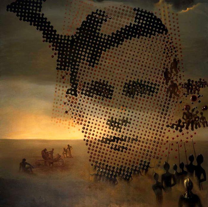 Портрет моего мёртвого брата (1963) - Сальвадор Дали.