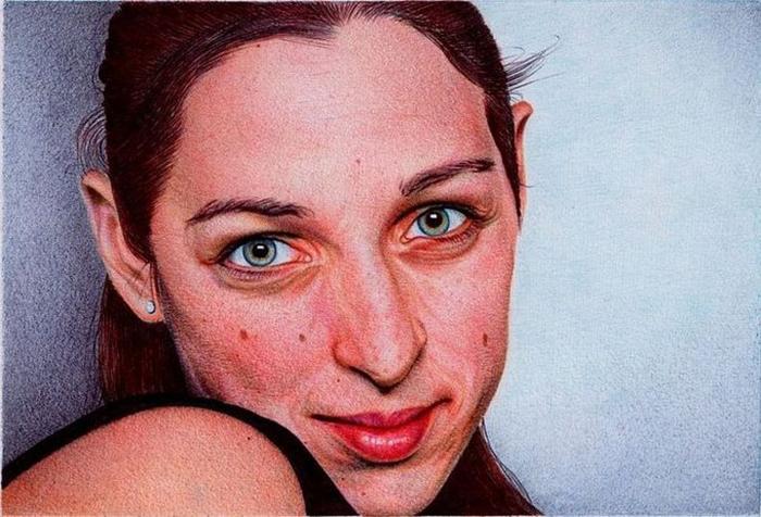 Портрет девушки. Автор: Samuel Silva.