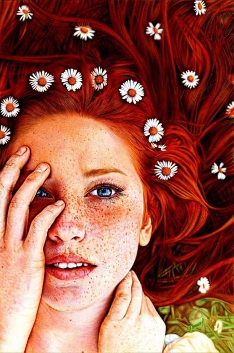Ромашки в волосах. Автор: Samuel Silva.