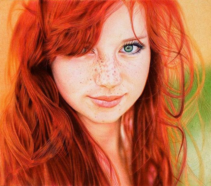Рыжеволосая девушка. Автор: Samuel Silva.
