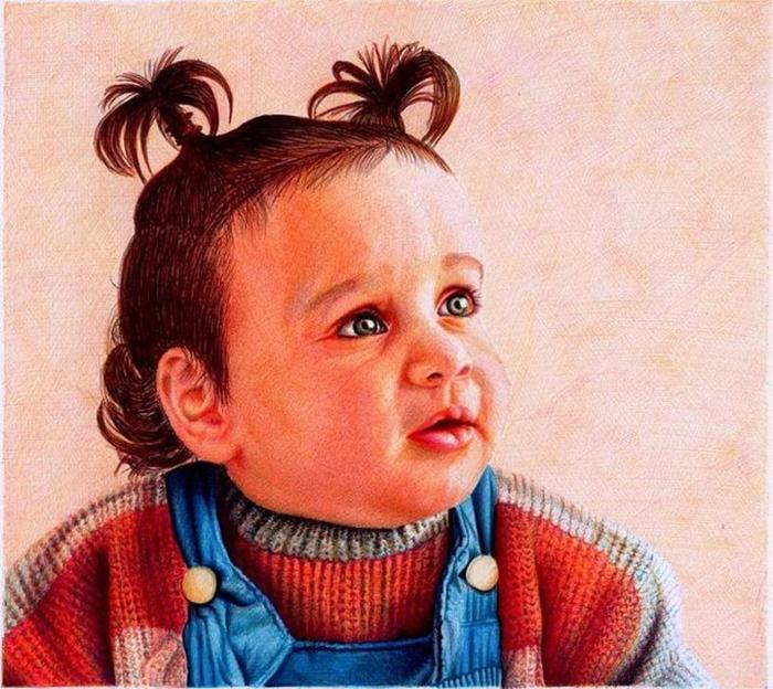 Портрет девочки. Автор: Samuel Silva.
