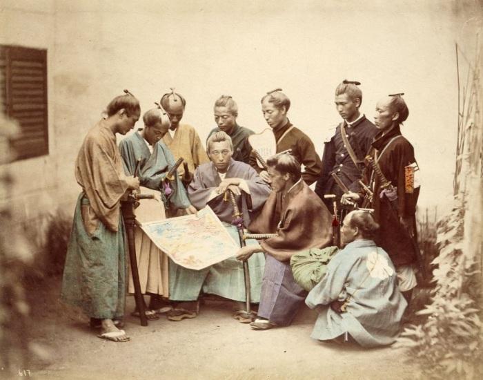 Самураи клана Симадзу из княжества Сацума, боровшиеся на стороне императора в период Войны Босин. \ Фото: ru.wikipedia.org.