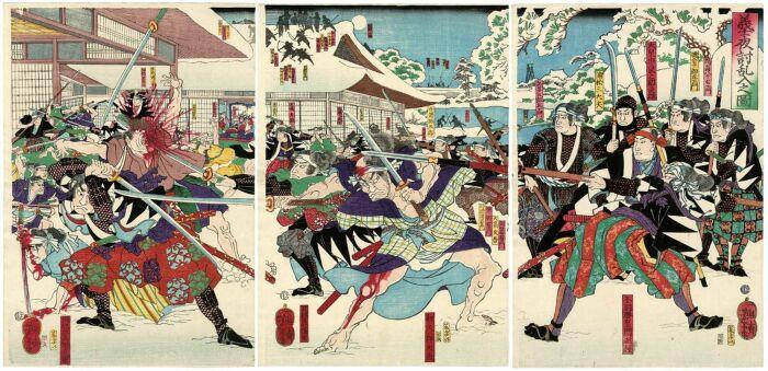 Гравюры Ёситоси Цукиока. \ Фото: pinterest.com.