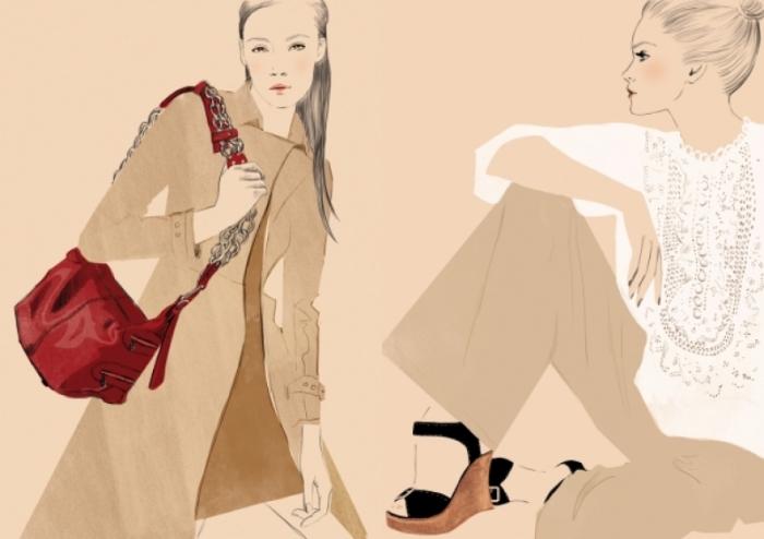 Фэшн-иллюстрации от Sandra Suy.