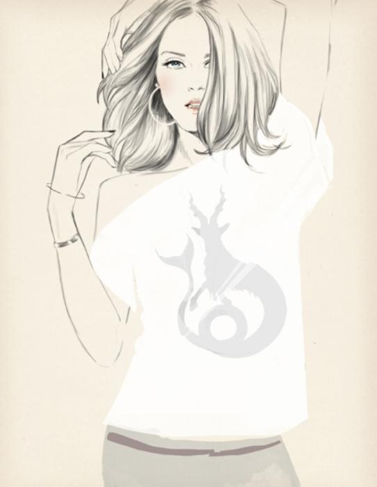 Мечтательно-загадочная девушка. Автор: Sandra Suy.