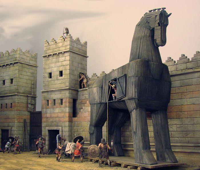 Троянский конь. \ Фото: pinterest.com.