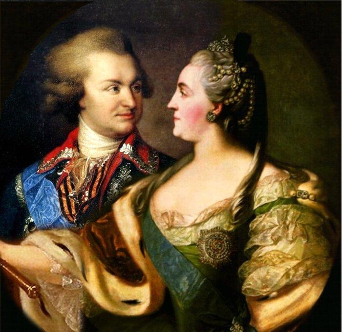 Екатерина Великая и Григорий Потёмкин. \ Фото: felicina.ru.