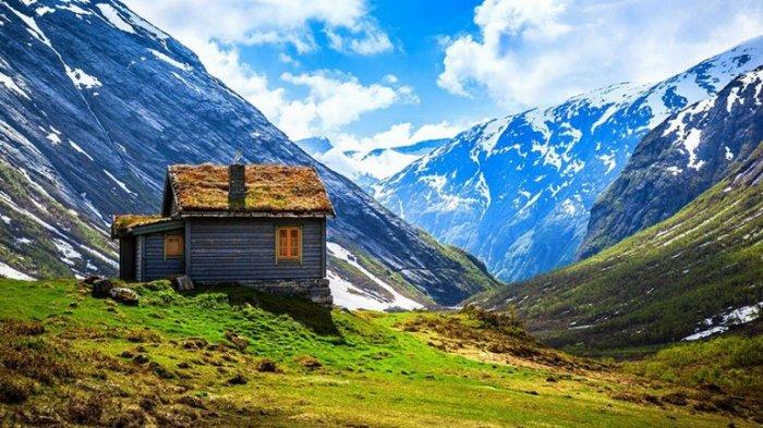 Домик в горах.