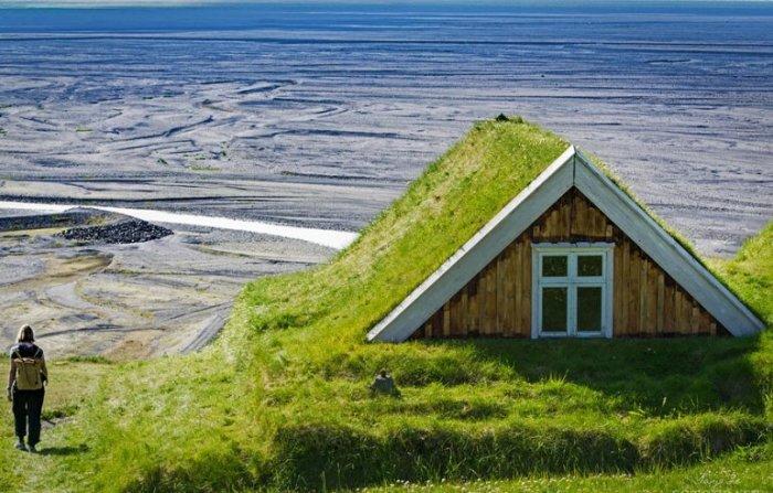 А вам бы хотелось жить в таком зелёном домике?