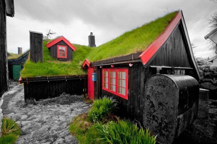 Скандинавы очень трепетно относятся к своим зелёным крышам, традиции строительства которых передаются из поколения в поколение.