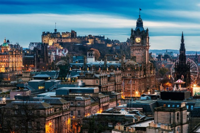 Эдинбургский замок, Шотландия.