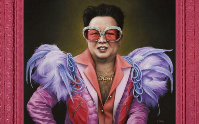 Ким в образе Элвиса Пресли. Автор: Scott Scheidly.