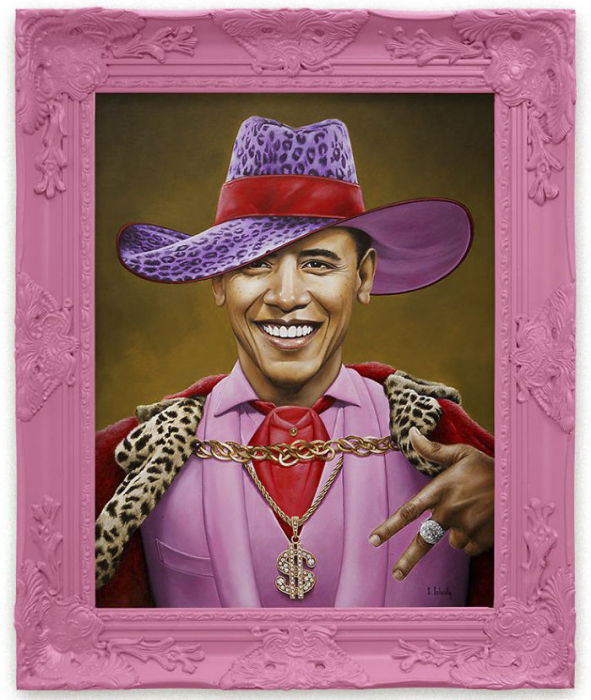 Барак Обама. Автор: Scott Scheidly.