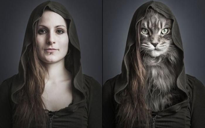 Люди и кошки. Sebastian Magnani.