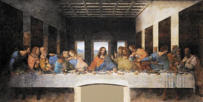 «Тайная вечеря» — картина Леонардо да Винчи. \ Фото: fineartamerica.com.