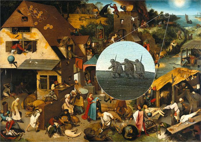 «Нидерландские пословицы», или «Мир вверх тормашками» — картина Питера Брейгеля Старшего. \ Фото: livejournal.com.