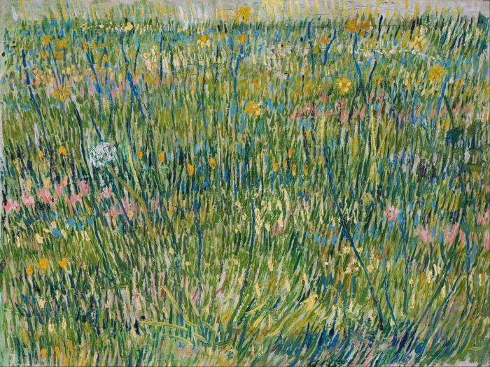 «Поляна с травой» — картина Винсента ван Гога. \ Фото: vvg.do.am.