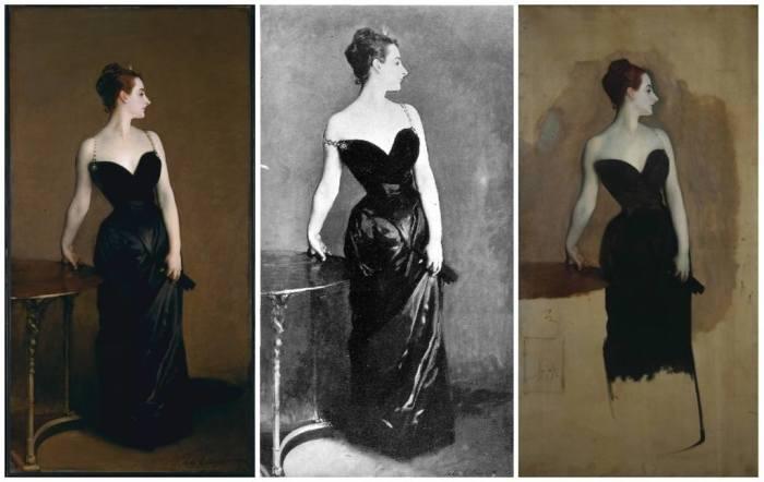 «Портрет мадам Икс» — портрет парижской светской красавицы Виржини Готро, написанный художником Джоном Сарджентом. \ Фото: google.com.