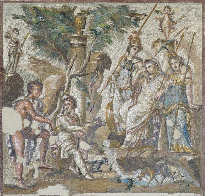 Мозаика Парижского суда с римской виллы в Антиохии в Оронте, 2 век н. э. \ Фото: in.pinterest.com.
