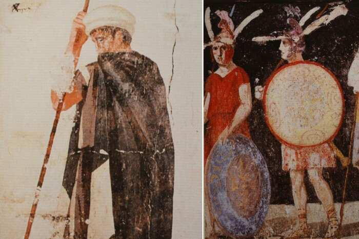 Картины древних македонских воинов, последняя четверть четвертого века до нашей эры. \ Фото: yandex.ua.