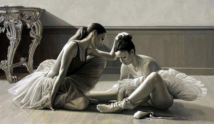 Балет в работах современного художника Серхио Мартинеса Цифуэнтеса.