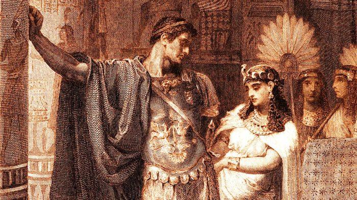 Марк Антоний и Клеопатра. \ Фото: thiswas.ru.