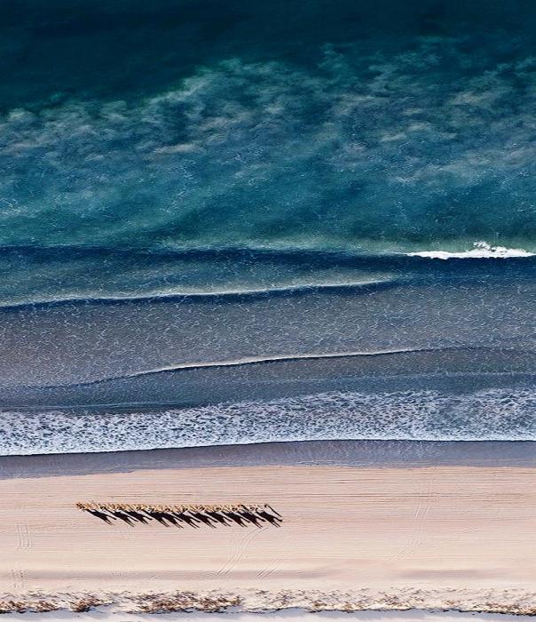 Впечатляющие абстрактные аэрофотографии Австралии от Sheldon Pettit.
