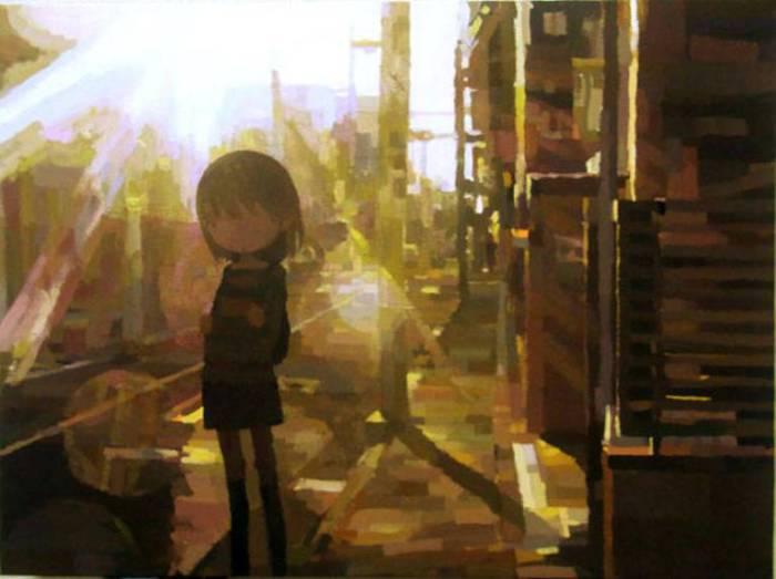Красочные работы Шинтаро Охата (Shintaro Ohata).