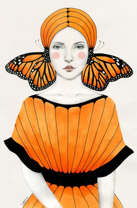 Оранжевая бабочка. Автор: Sofia Bonati.