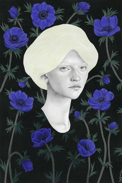 Синие цветы. Автор: Sofia Bonati.