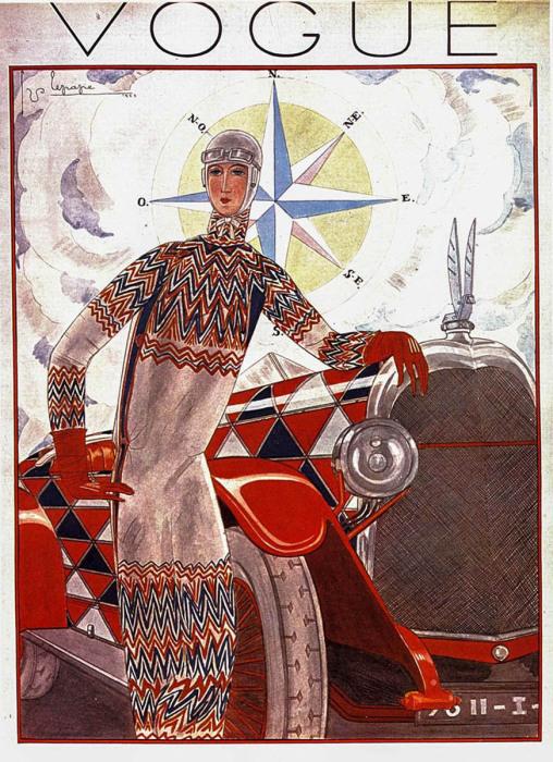 Обложка британского журнала Vogue, Соня Делоне, 1925 год. \ Фото: google.com.