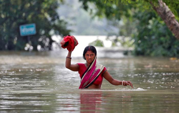 Затопленная деревня в Бихаре, Индия. Автор: Cathal Mcnaughton.