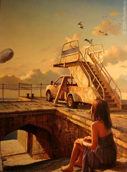 Ассоль или встреча с воздушным шаром. Автор: Станислав Плутенко.
