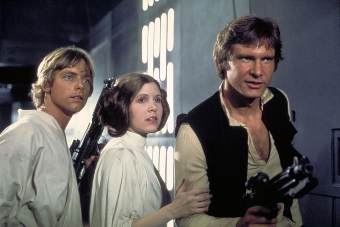 Лея, Люк и Хан. \ Фото: dailynews.com.