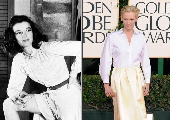 Кэтрин Хепберн и Тильда Суинтон.