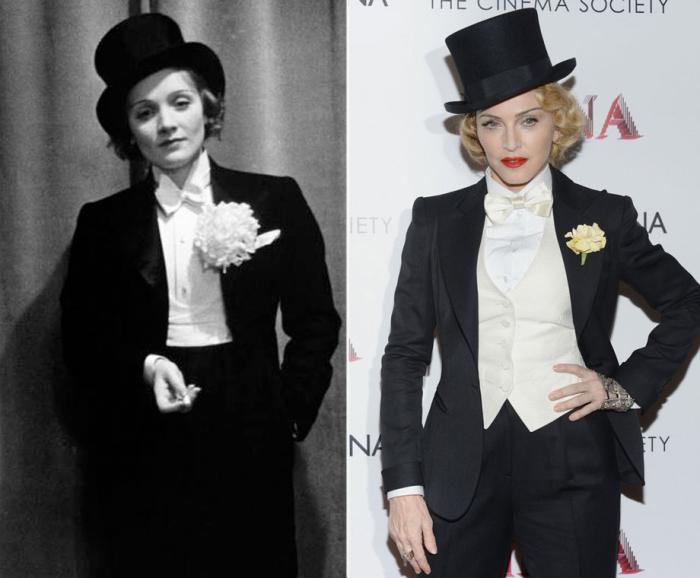 Марлен Дитрих и Мадонна.