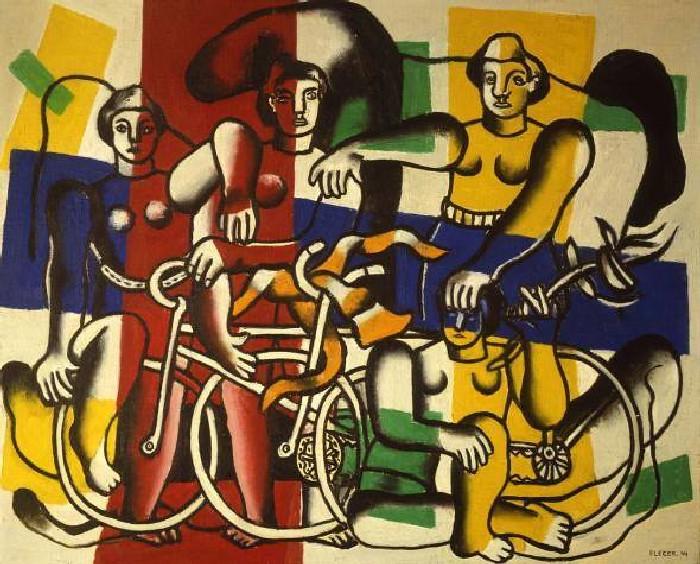 Фернан Леже: Les Deux Bicyclettes. \ Фото: google.com.ua.