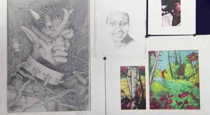 Рисунки, нарисованные Канье Уэстом в семнадцать лет. \ Фото: google.com.