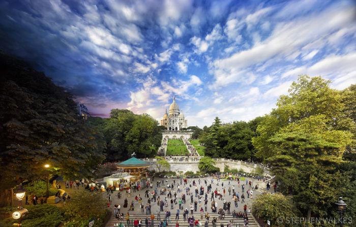 Сакре-Кер, Париж. Автор работ: Стефан Вилкс (Stephen Wilkes).