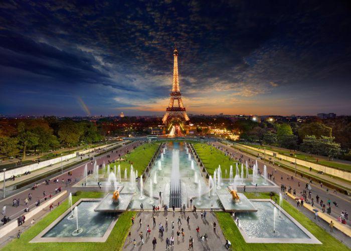 Эйфелева Башня, Париж. Автор работ: Стефан Вилкс (Stephen Wilkes).