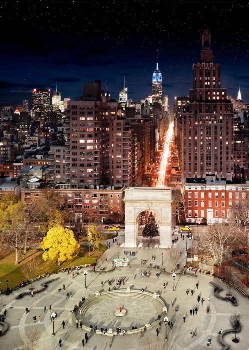 Вашингтон-сквер, Нью-Йорк. Автор работ: Стефан Вилкс (Stephen Wilkes).