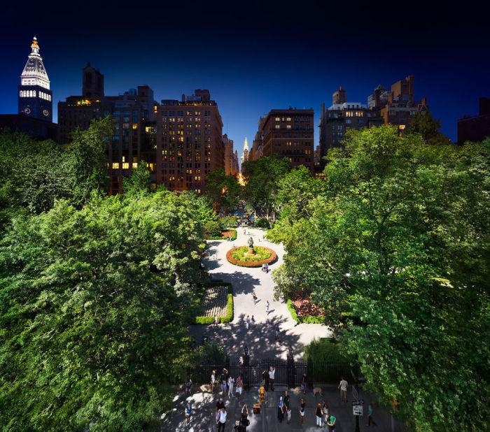Грамерси Парк, Нью-Йорк. Автор работ: Стефан Вилкс (Stephen Wilkes).