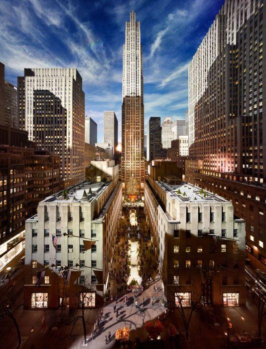 Рокфеллер-Центр, Нью-Йорк. Автор работ: Стефан Вилкс (Stephen Wilkes).