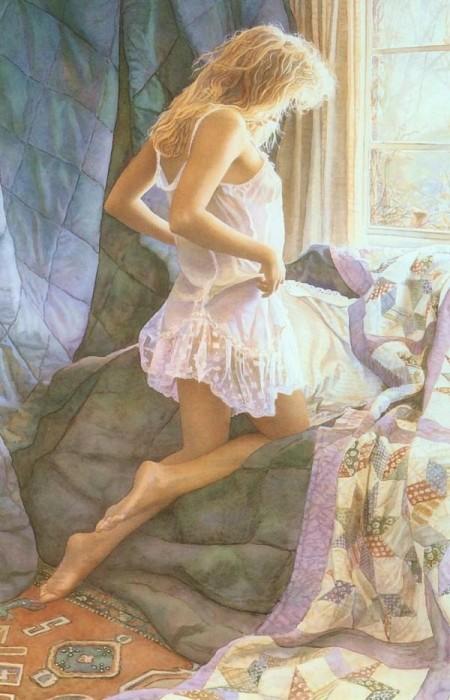 Интригующе-привлекательные образы девушек в работах Стива Хэнкса (Steve Hanks).