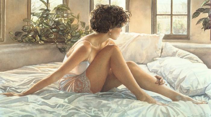 Соблазнительно-манящие образы девушек в работах Стива Хэнкса (Steve Hanks).