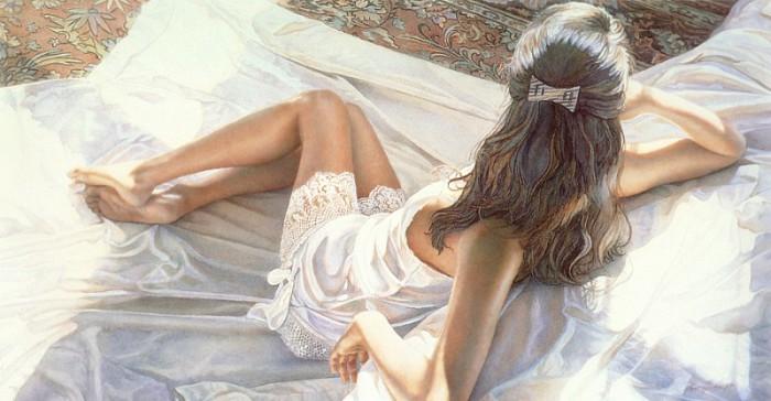 Лёгкие и невесомые образы девушек в работах Стива Хэнкса (Steve Hanks).