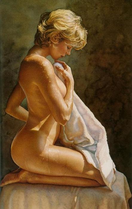 Сексуальные образы девушек в работах Стива Хэнкса (Steve Hanks).