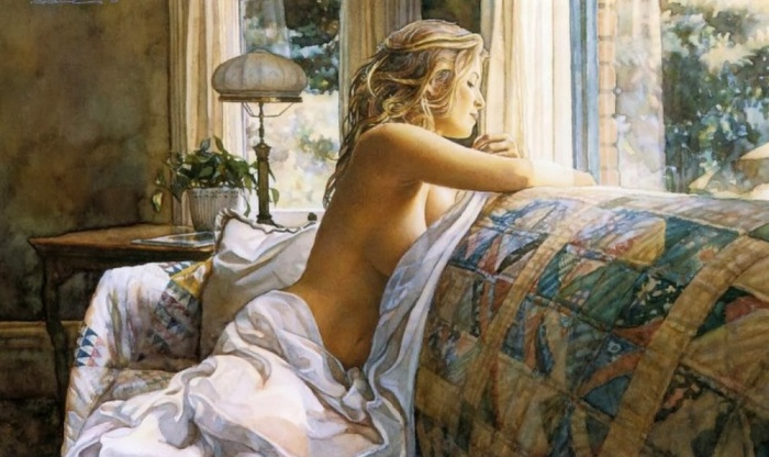 Интригующе-сексуальные образы девушек в работах Стива Хэнкса (Steve Hanks).