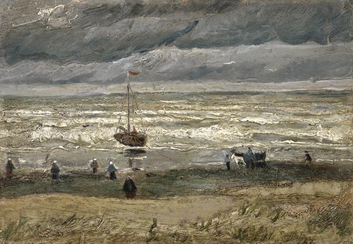 Вид на море в Схевенингене, Винсент Ван Гог. / Фото: cbc.ca.